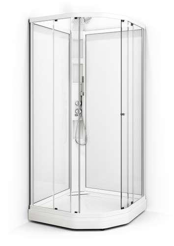 Dusjkabinett, 81x81 cm