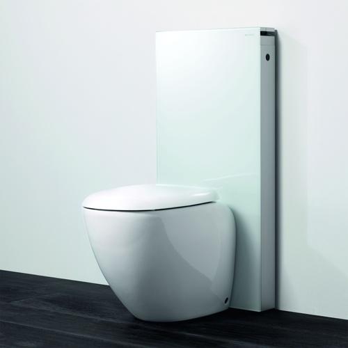 Toalettmodul, hvit gulvstående