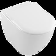 Toalett for veggmontering med slimsete