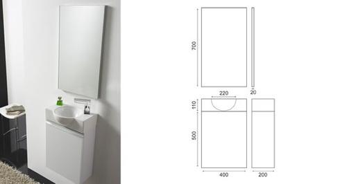 Møbelpakke hvit høyglans