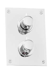 BOX368 Krom termostatbatteri 3-veis