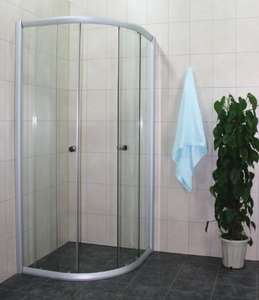 Moni Dusjhjørne 80x80 Hvit Profil og Klart glass