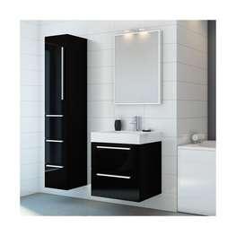 IDA 60 baderomsmøbel, sort høyglans