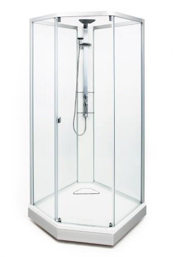 Dusjkabinett 90x90cm - Klart glass