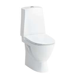 Toalett med skjult S-lås, for liming