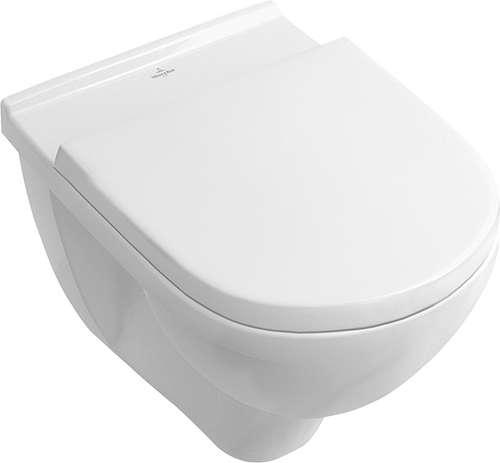 Toalett innbyggingspakke med ramme, krom trykknapp og V&B Onovo veggskål med SC:QR